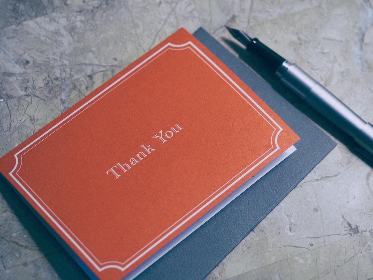 Thank you – Testimonial
