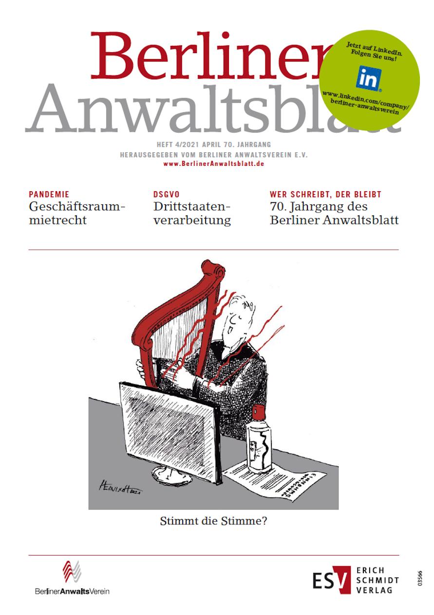 Berliner Anwaltsblatt Ausgabe April 2021